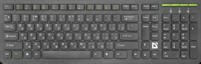 Беспроводная клавиатура UltraMate SM-536 RU,черный,мультимедиа