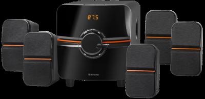 НОВИНКА. Акустическая 5.1 система Cinema 64 64Вт, BT/FM/MP3/SD/USB/LED/RC