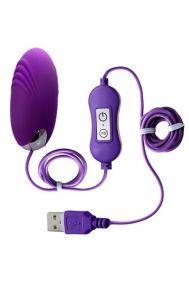 Виброяйцо от USB Toyfa A-Toys Shelly фиолетовое, 6,5*2,9 см