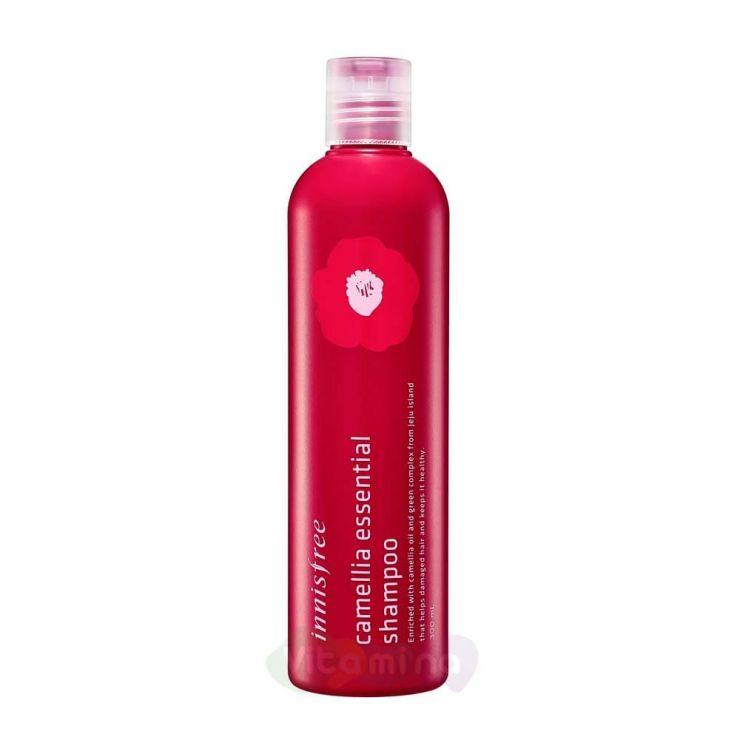 Innisfree Бессиликоновый шампунь с маслом камелии Camellia Essential Shampoo, 300 мл