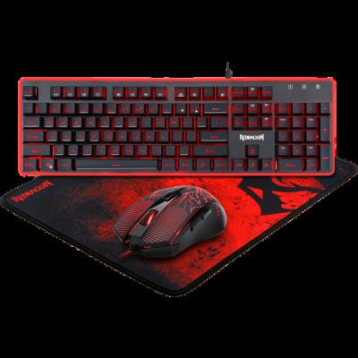 Игровой набор S107 RU, мышь+клавиатура+ковер