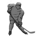 Наклейка-хоккеист на автомобиль Hockey Player (Type 1)