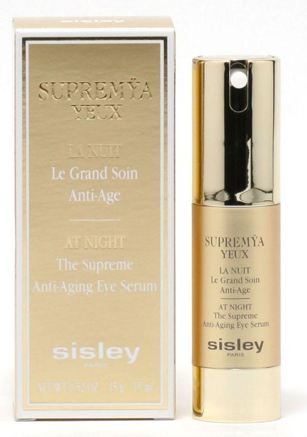 """Крем-сыворотка ночная антивозрастная для кожи вокруг глаз Sisley """"Supremya"""" 15ml"""