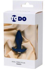 Анальная вибропробка Toyfa ToDo Fancy синяя, 7*3,5 см