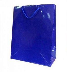 Пакет подарочный однотонный, синий, 31*42*12 см