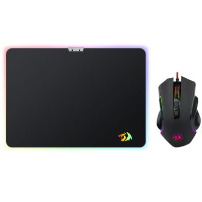 НОВИНКА. Игровой набор M602A-BA мышь RGB + коврик.