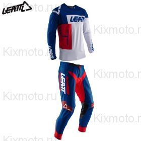 Костюм Leatt GPX 4.5 Lite, Бело-красно-синий