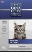 Gina Elite ADULT CAT DUCK&RICE Полнорационный корм для взрослых кошек с уткой и рисом, 3кг