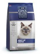 Gina Elite Adult Cat  Sensitive  Полнорационный корм для взрослых кошек с чувствительным пищеварением, 3кг