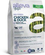 Alleva Holistic Neutered Chicken & Duck+Sugarcane fiber & Ginseng Полнорационный корм для стерилизованных, а также постоянно живущих в помещении животных. с курицей и уткой, 400гр
