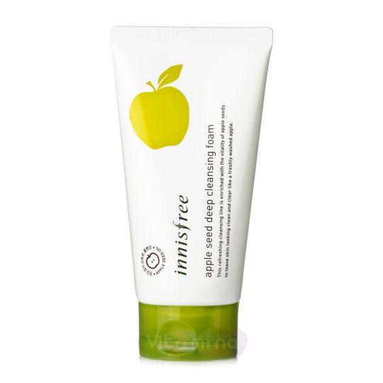 Innisfree Пенка для очищения лица с экстрактом яблока Apple Seed Deep Cleansing Foam, 150 мл