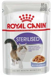 Консервы Royal Сanin Sterilised пауч мелкие кусочки в желе для стерилизованных кошек  85 гр.