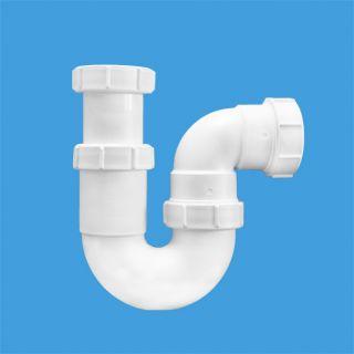 """—ифон трубный –-образный (2""""х50мм) без выпуска; выход компрессионный ƒу=50мм"""