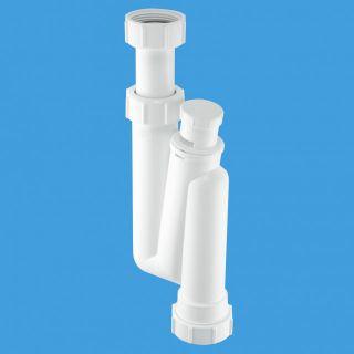 сифон трубный S-образный (1 1/4'x32мм) без выпуска с вентиляционным клапаном; вертикальный компрессионный выход Ду=32мм