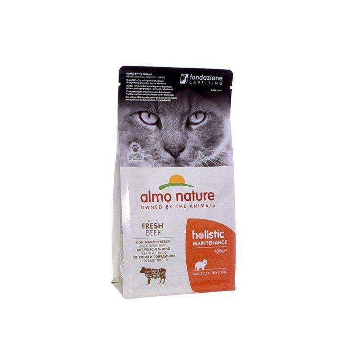 Almo Nature Для взрослых кошек с Говядиной и коричневым рисом