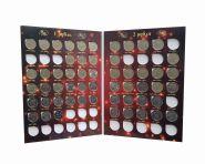 Набор 1 и 2 рубля 1997-2017гг ММД-СпМД в альбоме