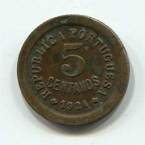 5 сентаво 1924 года Португалия
