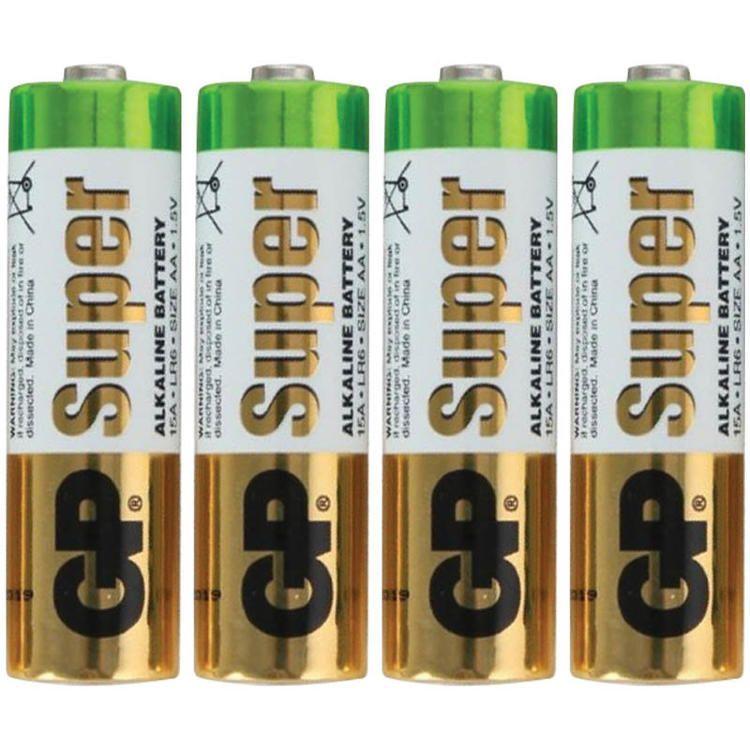 Батарейки алкалиновые GP 4 шт. 1,5V AA (пальчики)