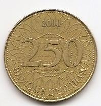 250 ливров  (регулярный выпуск) Ливан 2000