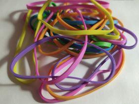Эластичные резинки (20 шт) разноцветные