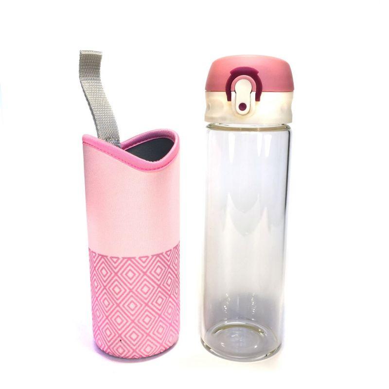 Бутылка для воды Fashion 500 мл (цвет розовый)