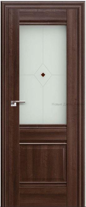2Х орех Сиена - со стеклом - PROFIL DOORS межкомнатные двери