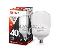 Лампа светодиодная LED-HP-PRO 40Вт 230В Е27 с адаптером E40 6500К 3600Лм IN HOME