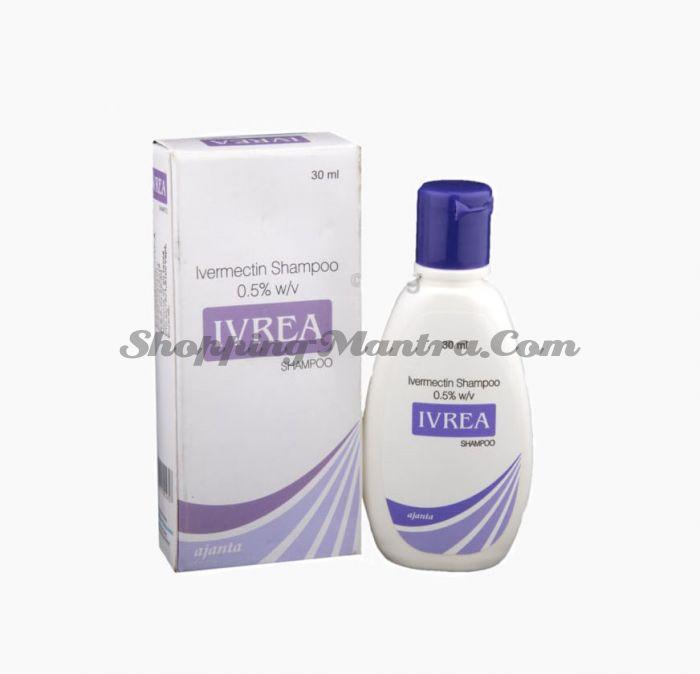 Ивреа антипаразитарный шампунь (ивермектин 0.5%) Аджанта Фарма   Ajanta Pharma Ivrea Shampoo Ivermectin 0.5%