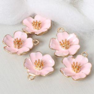 Кукольный аксессуар Подвеска Цветок нежно-розовый