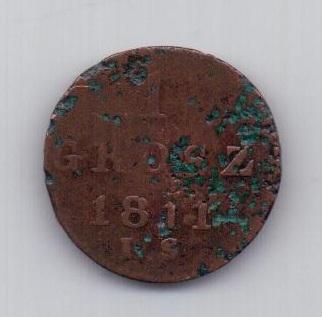 1 грош 1811 года Герцогство Варшавское