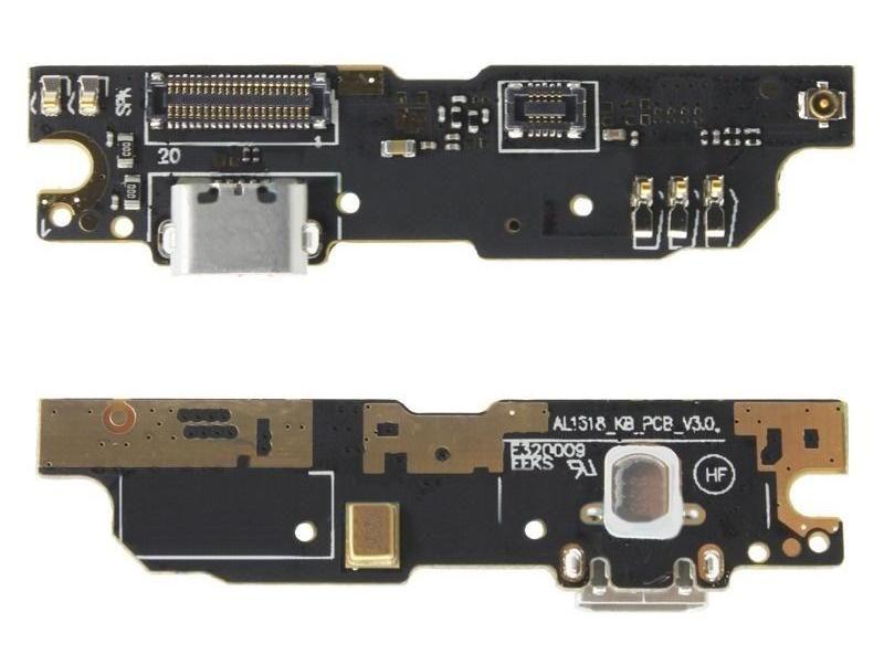 FLC (Шлейф) Meizu L681H M3 Note (на микрофон и системный разъем) Оригинал
