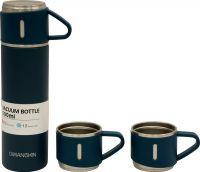 Подарочный набор Steel термос 500 мл и две кружки по 150 мл синий