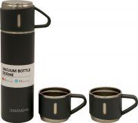 Подарочный набор Steel термос 500 мл и две кружки по 150 мл серый