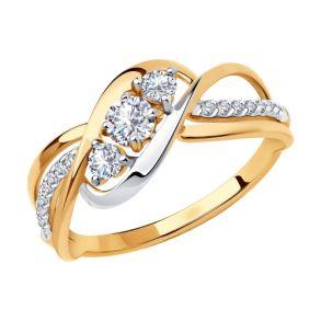 Кольцо из золота с фианитами 018533 SOKOLOV