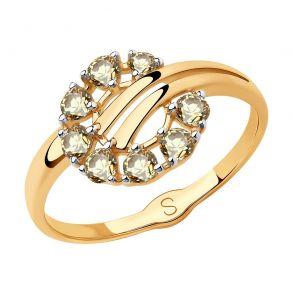 Кольцо из золота с жёлтыми Swarovski Zirconia 81010441 SOKOLOV