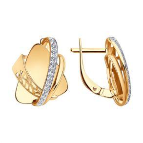 Серьги из золота с фианитами 028818 SOKOLOV