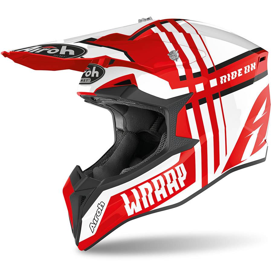 Airoh Wraap Broken Red Gloss шлем, красный