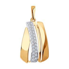 Подвеска из золота с фианитами 035910 SOKOLOV
