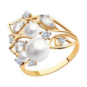 Кольцо из золота с миксом камней 791163 SOKOLOV