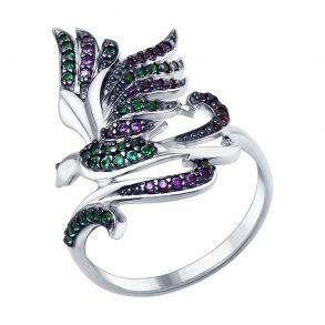 Кольцо из серебра с фианитами 94012891 SOKOLOV