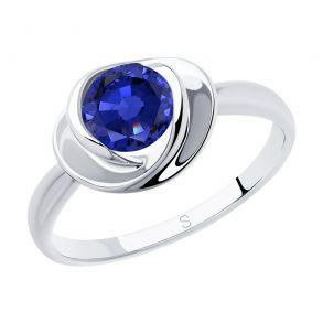 Кольцо из серебра с фианитом 94012924 SOKOLOV