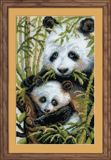 Набор для вышивания крестом Панда с детенышем №1159 фирма Риолис