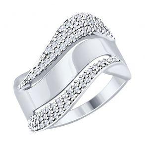 Кольцо из серебра с фианитами 94012503 SOKOLOV