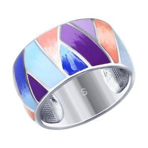 Кольцо из серебра с эмалью 94012544 SOKOLOV