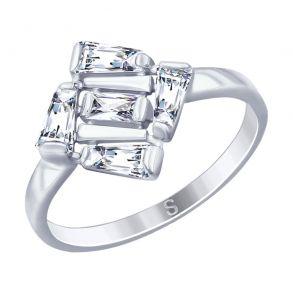 Кольцо из серебра с фианитами 94012690 SOKOLOV