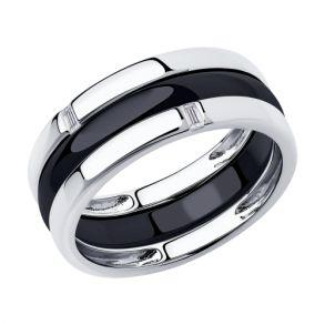 Кольцо из серебра с керамикой 94014584 SOKOLOV