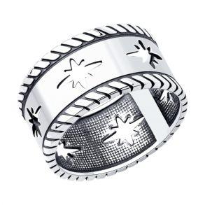 Кольцо из чернёного серебра 95010132 SOKOLOV