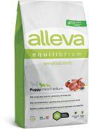 Alleva Equilibrium Sensitive Lamb Puppy Mini/Medium Полнорационный сухой корм для щенков, беременных и кормящих сук мелких и средних пород с ягненком, 2кг