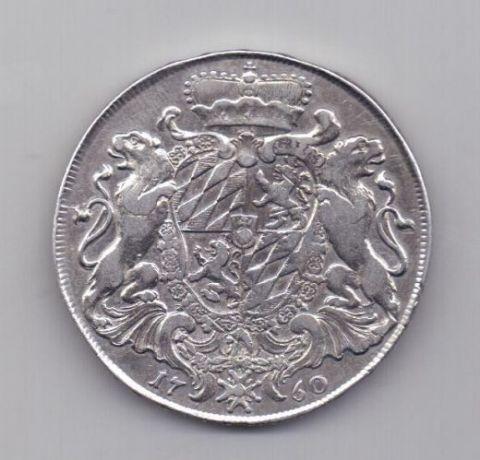1 талер 1760 года XF Редкий !!! Бавария Германия