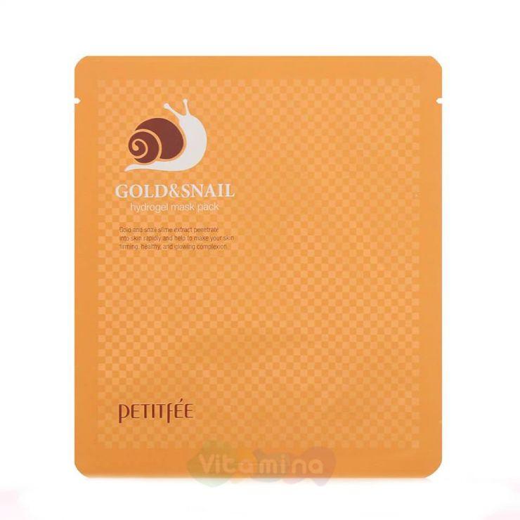 Petitfee Гидрогелевая маска для лица с золотом Gold & Snail Hydrogel Mask Pack, 30 г